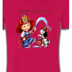 T-Shirts Enfants Enfant pompier (F2)