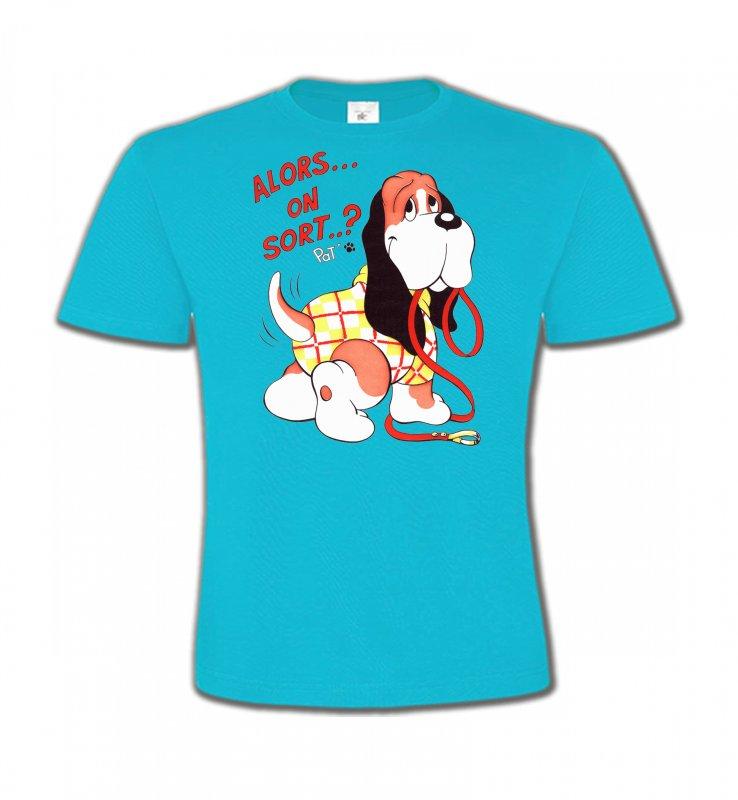 T-Shirts Col Rond EnfantsHumour/amourBasset Jaune (E)