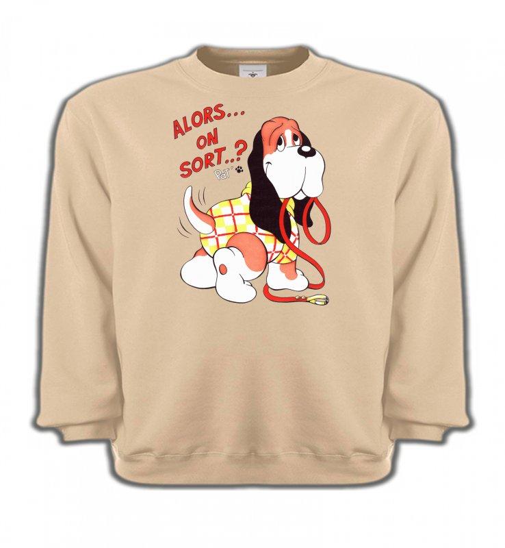 Sweatshirts EnfantsHumour/amourBasset Jaune (E)