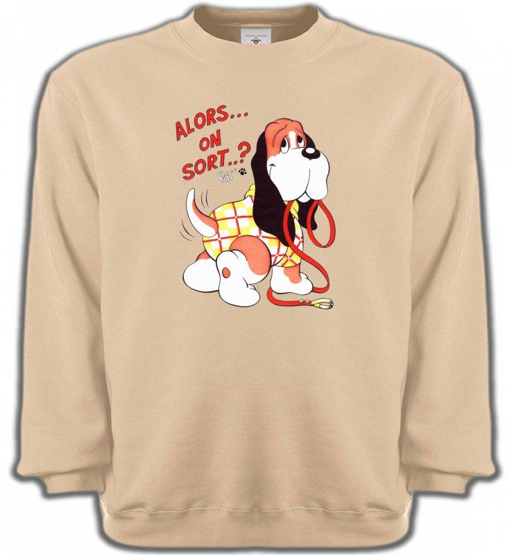 Sweatshirts UnisexeHumour/amourBasset Jaune (E)