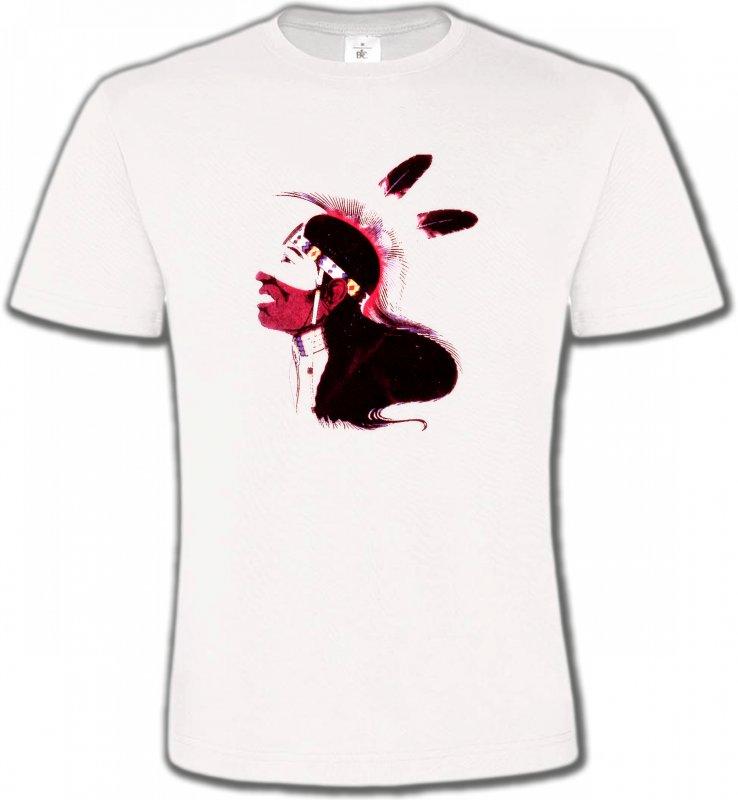 T-Shirts Col Rond UnisexeIndien et AmérindiensIndien peau-rouge (G)