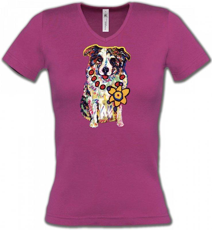 T-Shirts Col V FemmesHumour/amourBerger Australien (J)