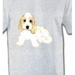 T-Shirts Enfants Cocker chiot blanc (F)