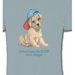 T-Shirts Enfants Chiot avec une casquette (F3)