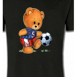 T-Shirts Enfants Nounours au football (U)