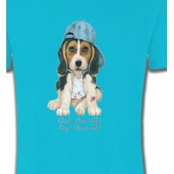T-Shirts Enfants Chiot avec casquette (D)
