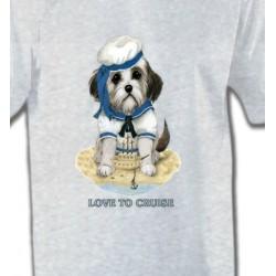 T-Shirts Enfants Chien Marin