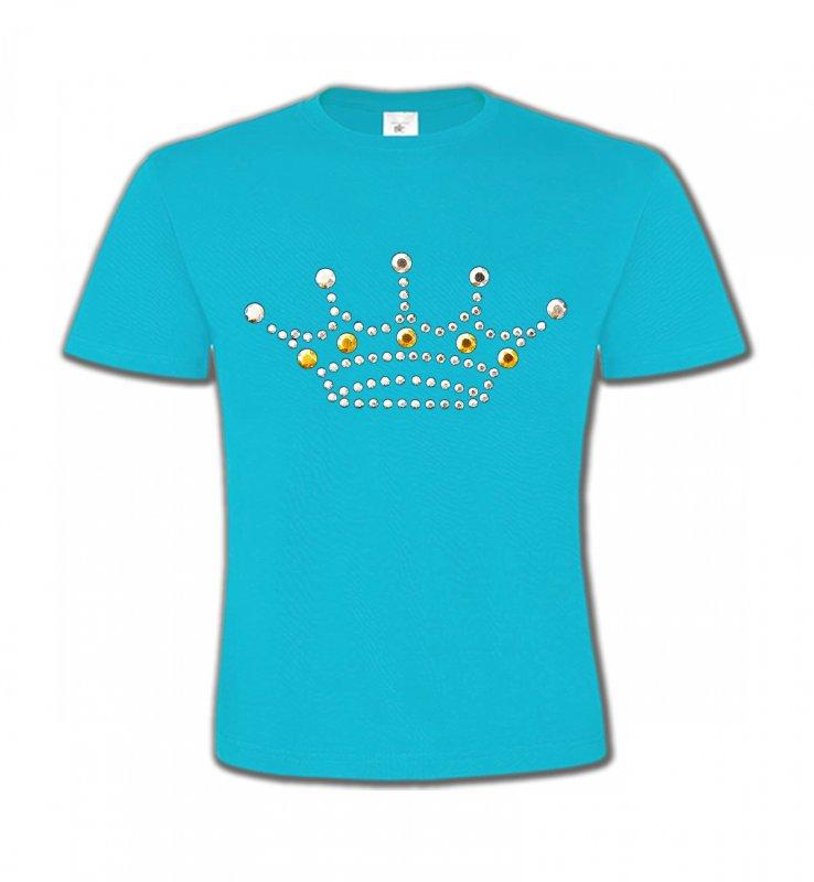 T-Shirts Col Rond EnfantsStrass & PaillettesStrass Couronne