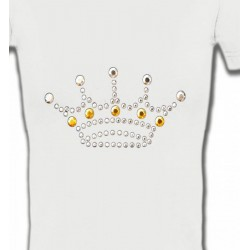 T-Shirts Strass & Paillettes Strass Couronne