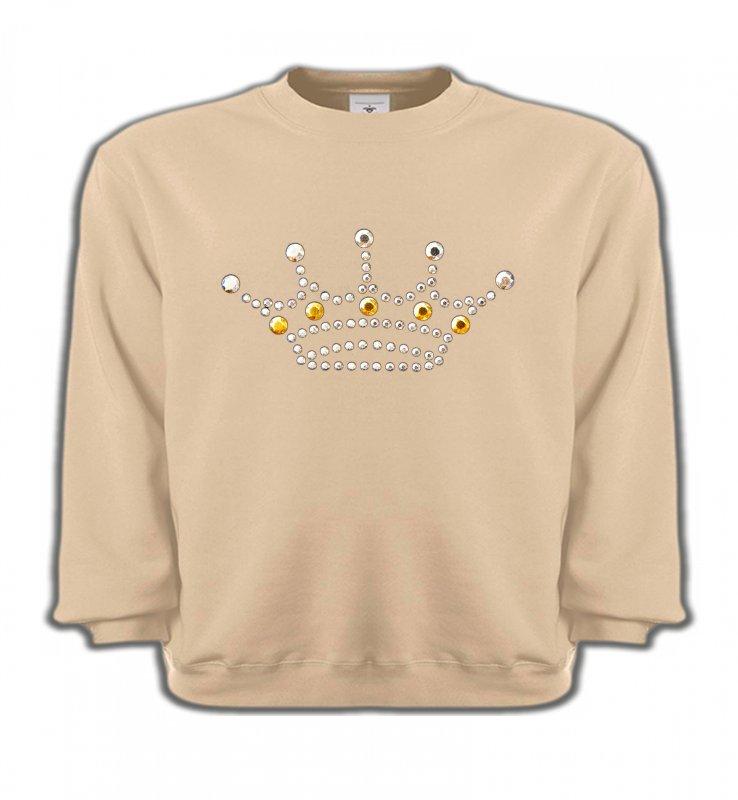 Sweatshirts EnfantsStrass & PaillettesStrass Couronne