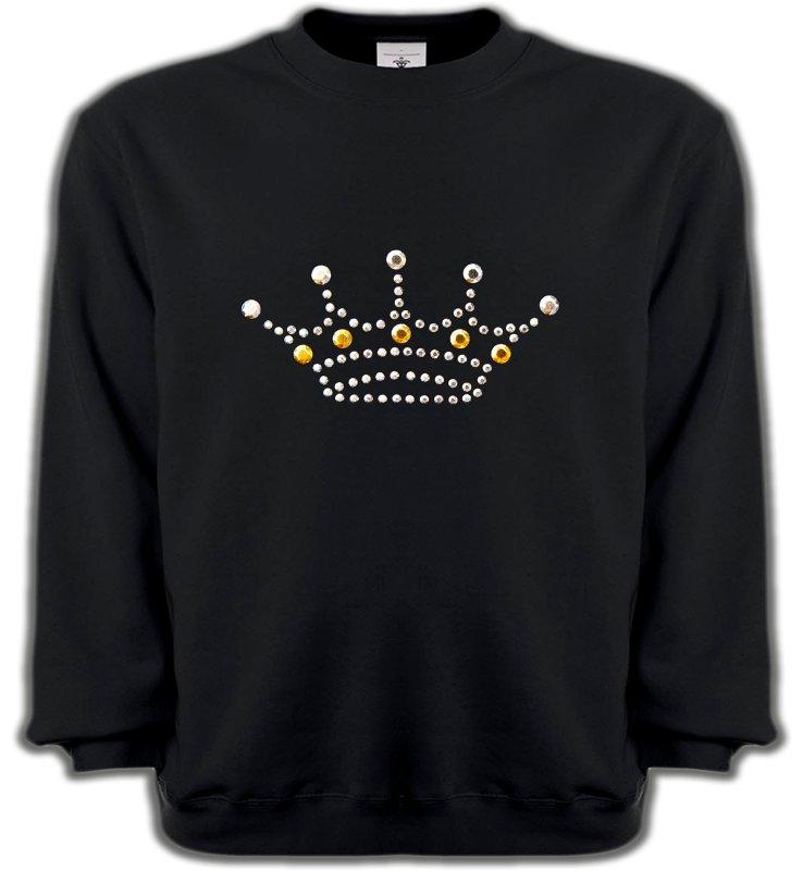 Sweatshirts UnisexeStrass & PaillettesStrass Couronne