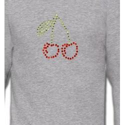 Sweatshirts Strass & Paillettes Strass Cerises