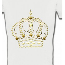 T-Shirts Strass & Paillettes Strass Couronne 3