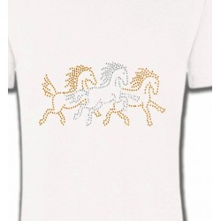 T-Shirts Strass & Paillettes Chevaux strass