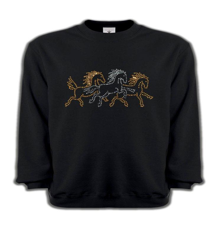 Sweatshirts EnfantsStrass & PaillettesChevaux strass
