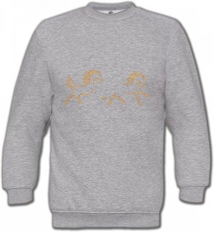 Sweatshirts UnisexeStrass & PaillettesChevaux strass