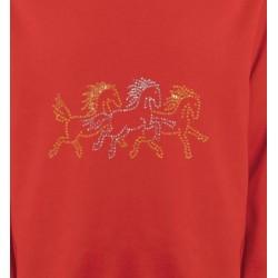 Sweatshirts Strass & Paillettes Chevaux strass