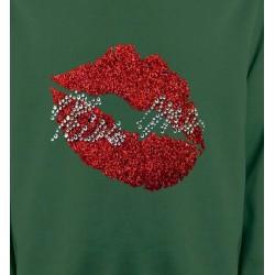 Sweatshirts Strass & Paillettes Strass Lèvres Kiss Me