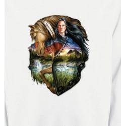 Sweatshirts Sweatshirts Unisexe Indien et cheval (M)