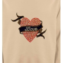 Sweatshirts Strass & Paillettes Strass Coeur Love