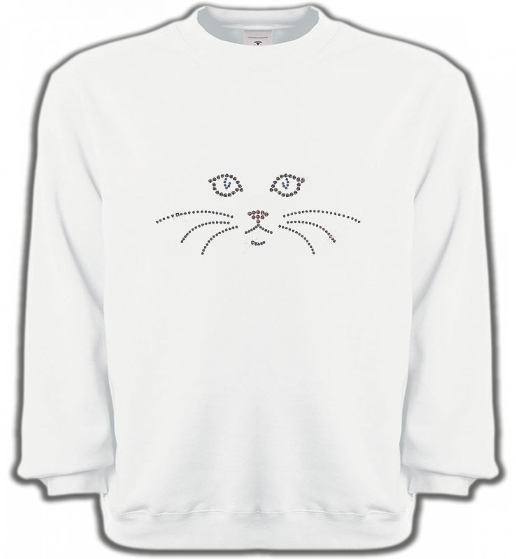 Sweatshirts Unisexe Races de chats Chat en Strass