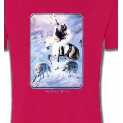 T-Shirts T-Shirts Col Rond Enfants Indien et loup (P2)