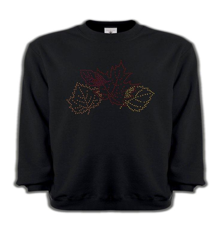 Sweatshirts EnfantsStrass & PaillettesStrass feuilles d'arbre