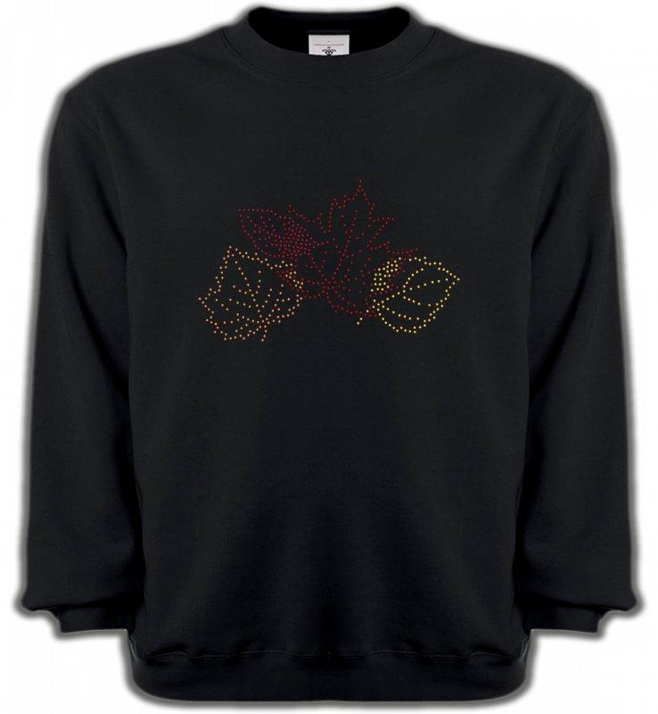 Sweatshirts UnisexeStrass & PaillettesStrass feuilles d'arbre