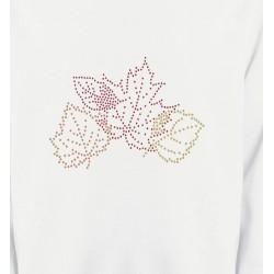 Sweatshirts Strass & Paillettes Strass feuilles d'arbre