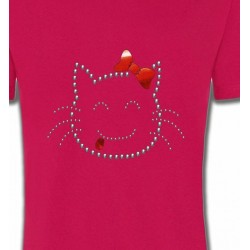 T-Shirts Strass & Paillettes Hello Kitty