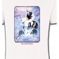 T-Shirts T-Shirts Col Rond Unisexe Indien et loup (P2)