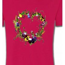 T-Shirts Fêtes  Coeur en fleur