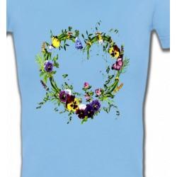 T-Shirts Fêtes et occasions Coeur en fleur