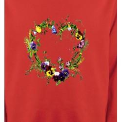 Sweatshirts Fêtes et occasions Coeur en fleur