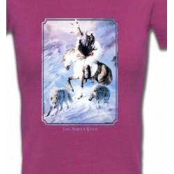 T-Shirts T-Shirts Col V Femmes Indien et loup (P2)