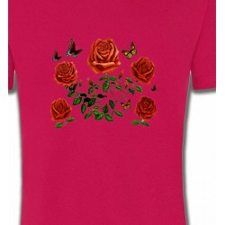 T-Shirts Fêtes  Roses rouges