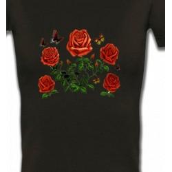 T-Shirts Fêtes et occasions Roses rouges