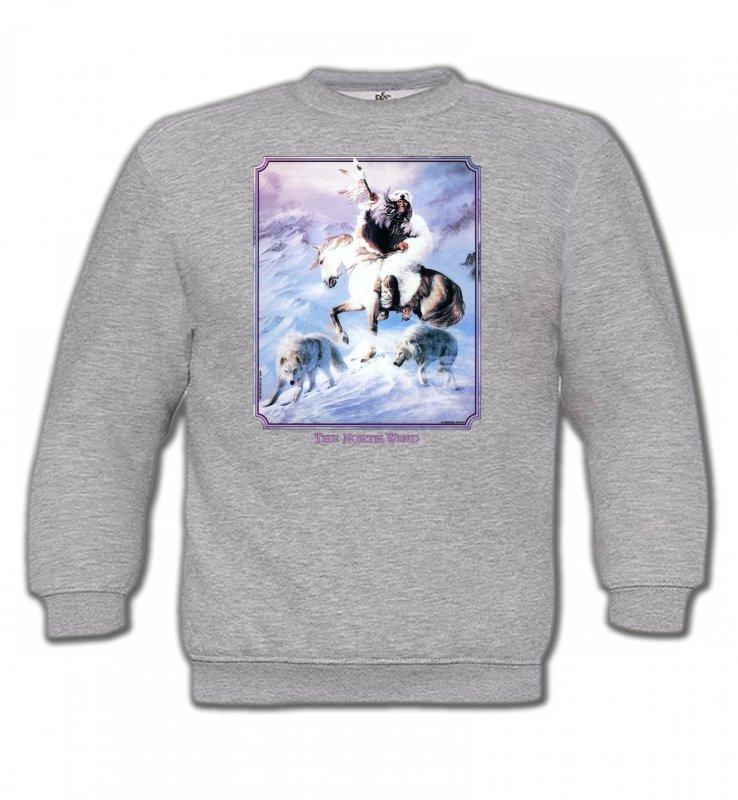 Sweatshirts EnfantsIndien et AmérindiensIndien et loup (P2)