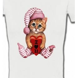 T-Shirts Fêtes et occasions Chaton en pyjama  (L3)