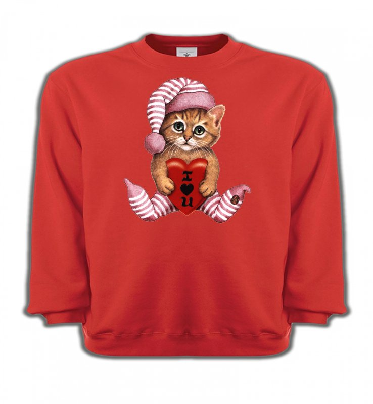 Sweatshirts EnfantsRaces de chatsChaton en pyjama  (L3)