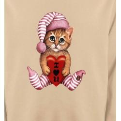 Sweatshirts Races de chats Chaton en pyjama  (L3)