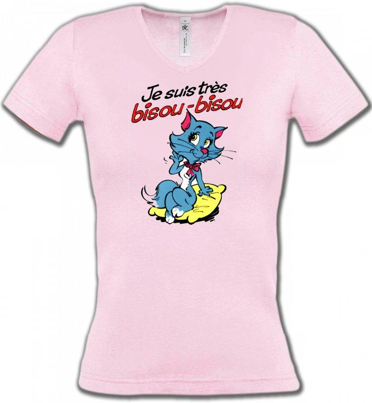 T-Shirts Col V FemmesRaces de chatsChatte humour (P2)