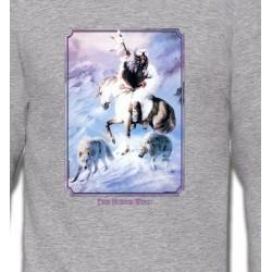 Sweatshirts Sweatshirts Unisexe Indien et loup (P2)