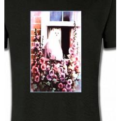 T-Shirts Fêtes  Chat à la fenêtre