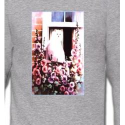 Sweatshirts Saint-Valentin Chat à la fenêtre