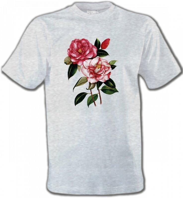 T-Shirts Col Rond UnisexeFleurs/RomantiqueRoses