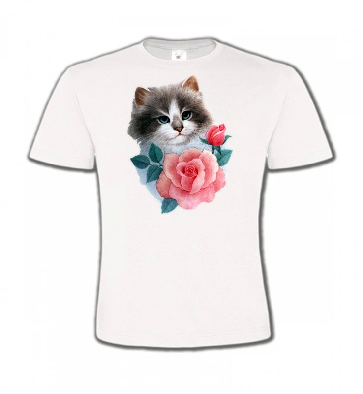 T-Shirts Col Rond EnfantsRaces de chatsChat Ragdoll et rose