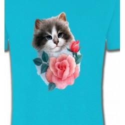T-Shirts Races de chats Chat Ragdoll et rose