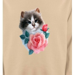 Sweatshirts Races de chats Chat Ragdoll et rose