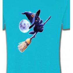 T-Shirts Humour/amour apprenti  sorcière Chaton noir Halloween (Z)